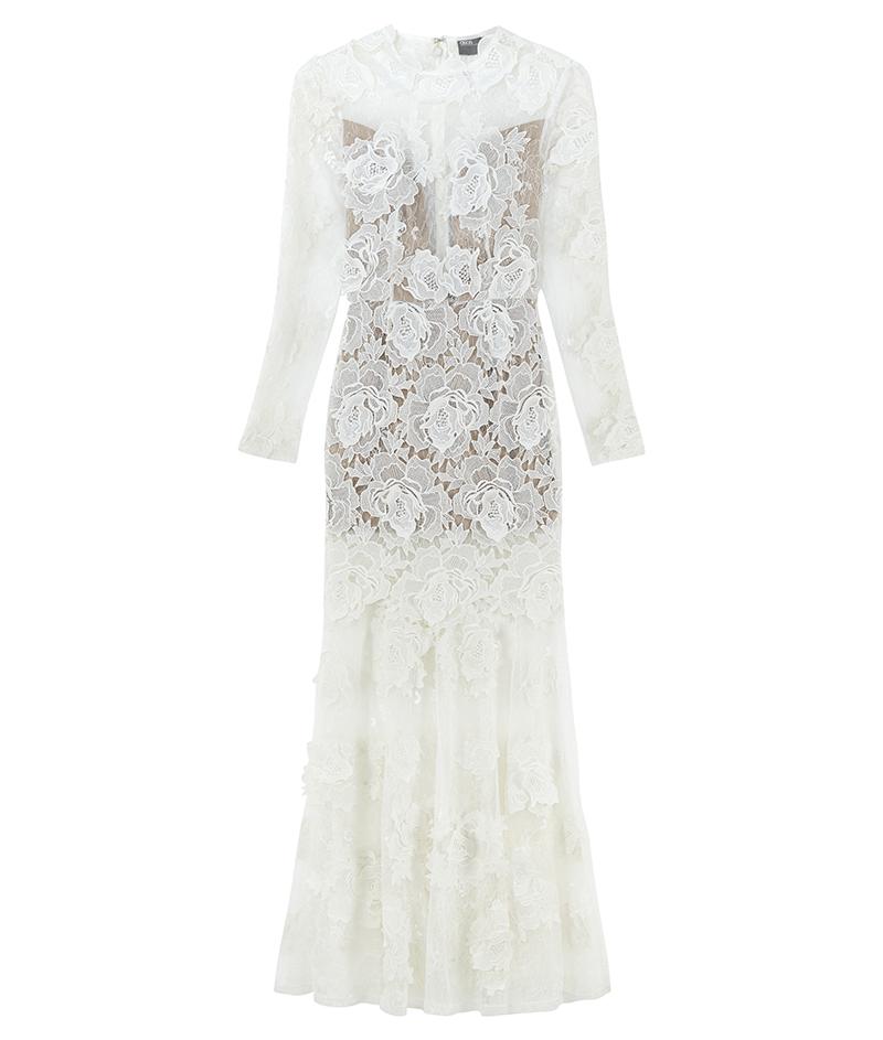 web_ASOS BRIDAL Lace 3D Floral Fishtail Maxi Dress ú250 22 March