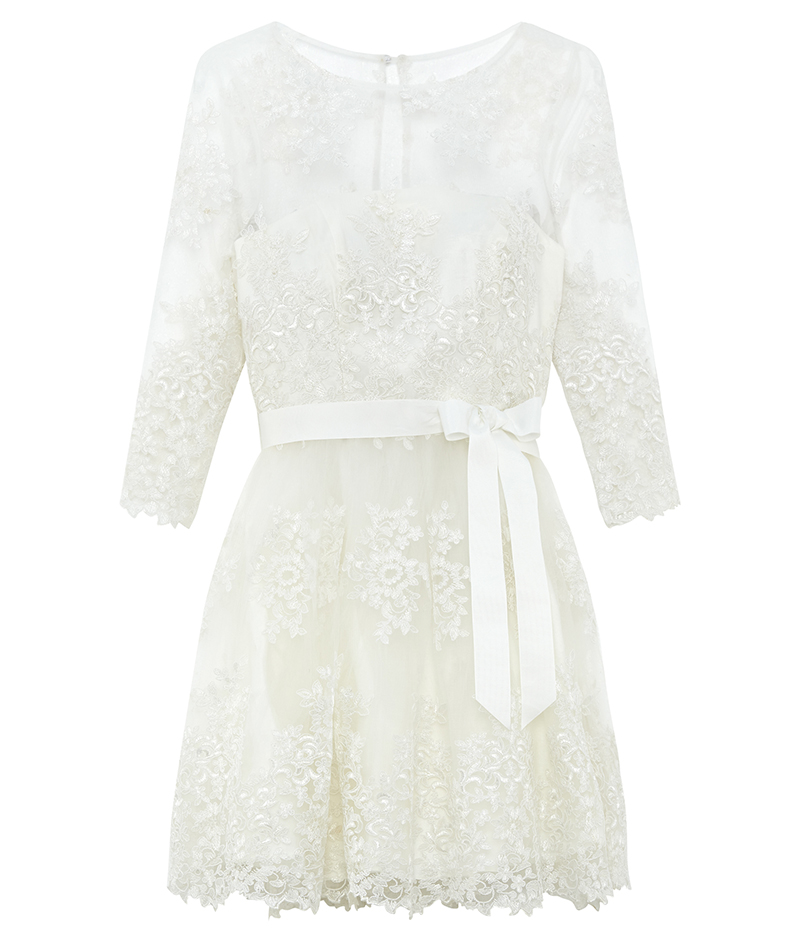 web_ASOS BRIDAL Long Sleeve Lace Mini Dress ú160 22 March