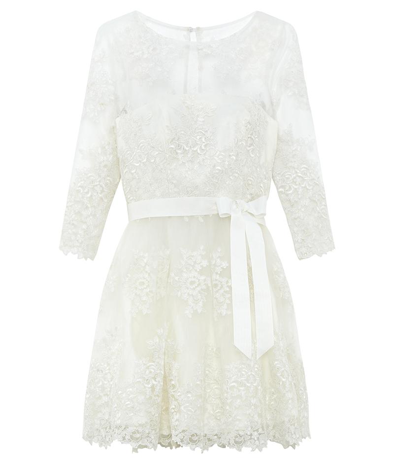 web_ASOS BRIDAL Long Sleeve Lace Mini Dress ú160 22 March