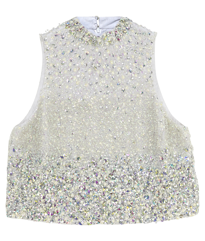 web_z. ASOS BRIDAL Iridescent Embellished Top ú65