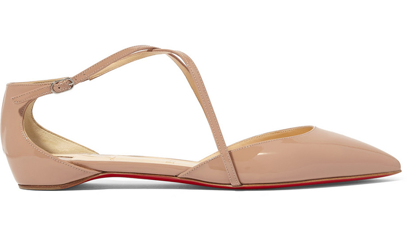 13. Net-a-Porter Christian Louboutin Crosspiga patent-leather point-toe flats £445