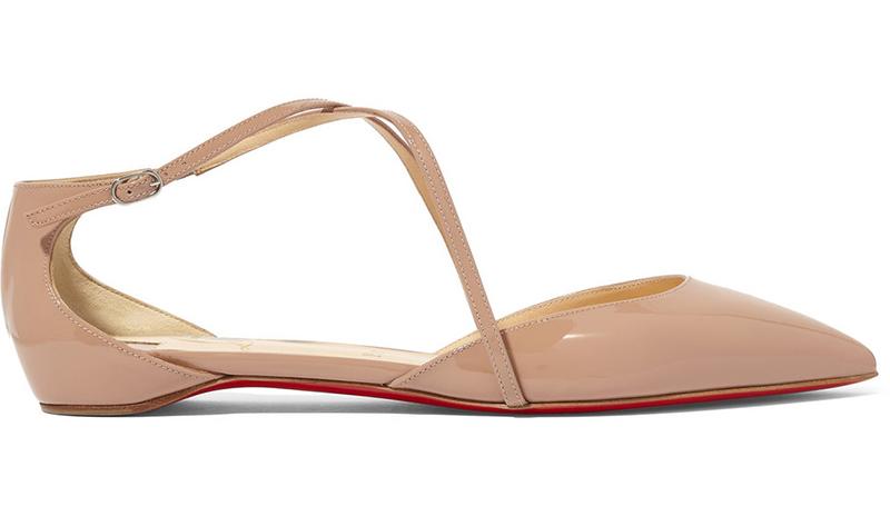 13. Net-a-Porter Christian Louboutin Crosspiga patent-leather point-toe flats £445
