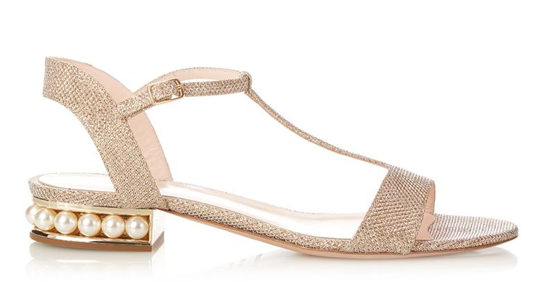 15. Matchesfashion Nicholas Kirkwood Casti pearl-heeled lurex sandals