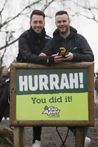 Couple Takes Relationship to New Heights with Proposal at Go Ape After a whirlwind romance, a Scottish man was looking for an adventurous way to propose to his partner and decided to go back to Go Ape Tree Top Adventure where their love story began in 2015. It was love at first swing for Zac Louden (20) from Edinburgh and Colin Nicholson (31) from Bridge of Weir who first set eyes on each other as they swung through the tree-tops on their first date last summer, 150 feet above the ground at Go Ape Aberfoyle in Queen Elizabeth Forest Park. Picture by Chris James 12/3/16