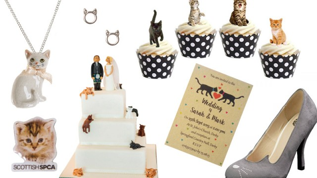 #MOODboard: quirky wedding products for cat lovers