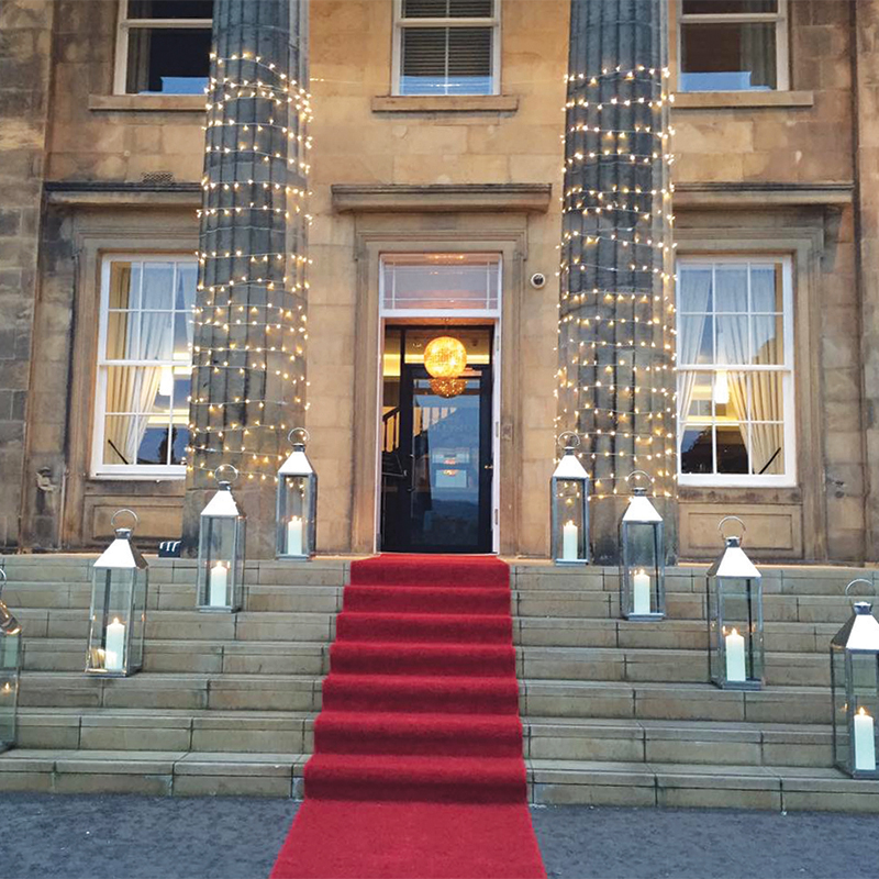 The red carpet leads the way into Stirling's Hotel Colessio