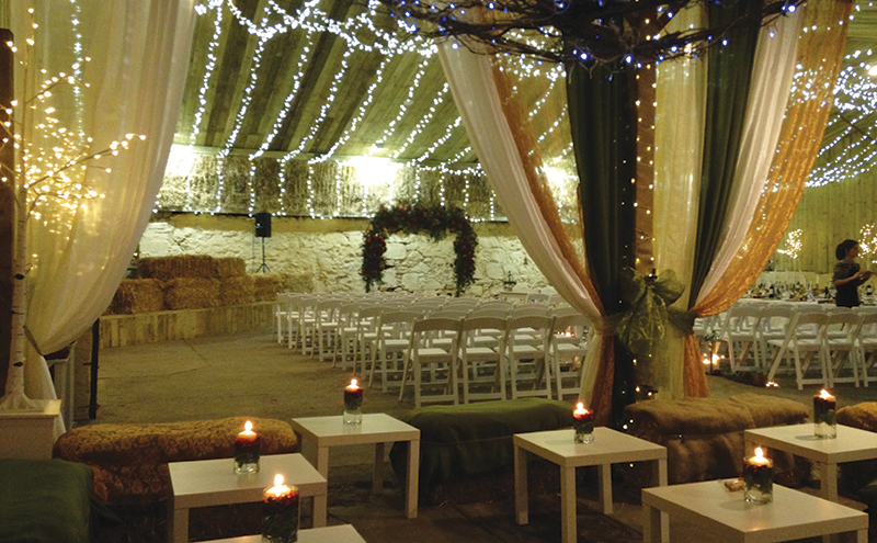 Fairylights add a glow to Comrie Croft