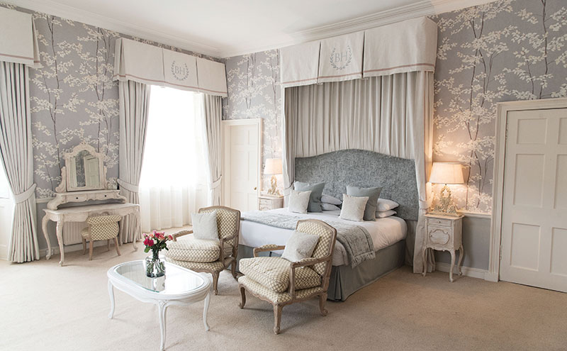 Muted shades cocoon Balbirnie House's Pearl Suite
