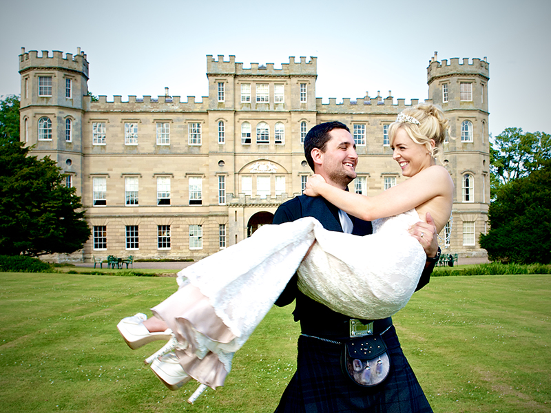 Kirstin and Patrick Wilkens Wedding. Wedderburn Castle, Scotland. 18th July 2013.
