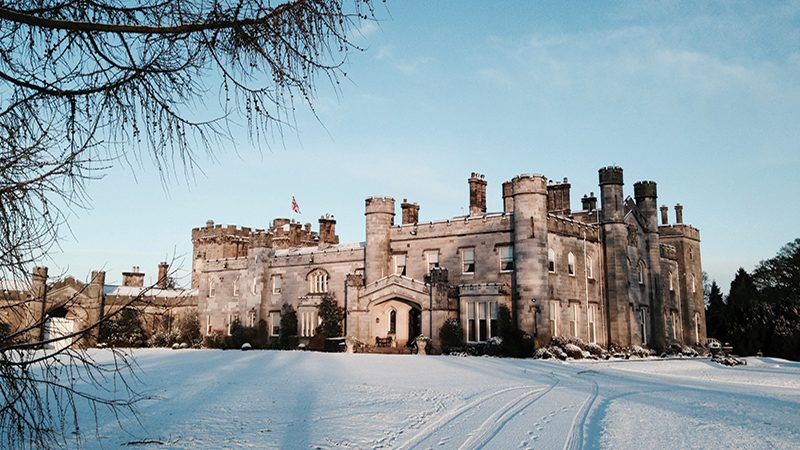 It'll be all white on the night with Dundas Castle's snow machine