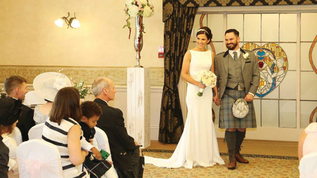 Glenskirlie hosts a very special big day for one happy couple