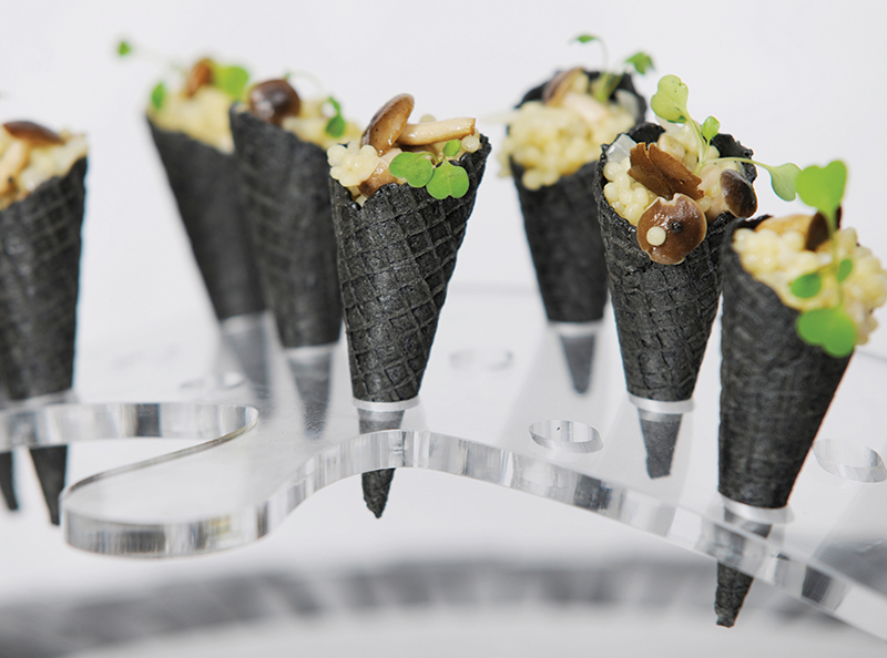 Beyond the breakfast creative canap s and evening snacks for Funky canape trays