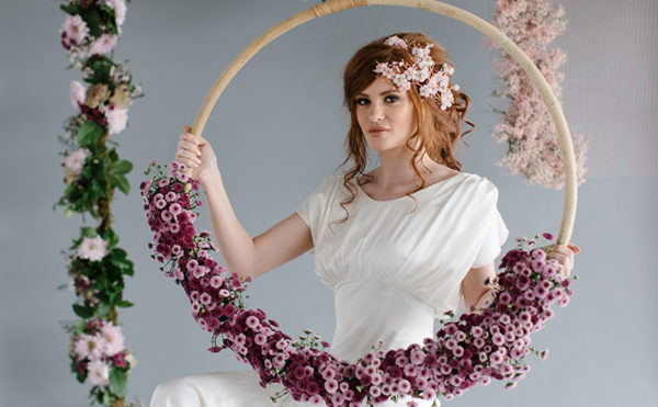 Eva Marie and AMM Hair and Makeup Team collaborate on luxury headpiece collection