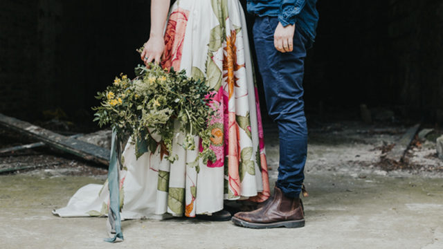 Dream teams: alternative dresses, rustic florals and an abandoned mansion