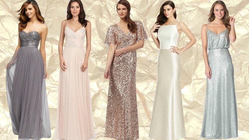 20 incredible metallic bridesmaid dresses