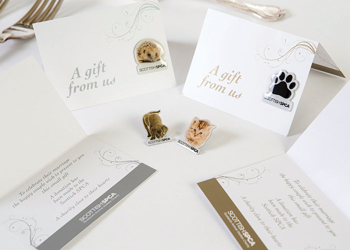 Pin Badge Wedding Favours 2 Each Scottish Spca