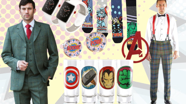 Superhero styling for grooms