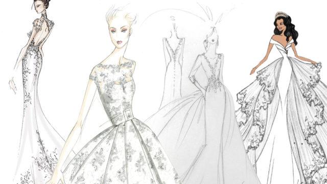 Eight bridal designers imagine how they'd dress Meghan Markle