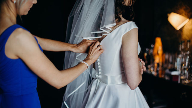 One for the 'maids: how to dress the bride on the big day