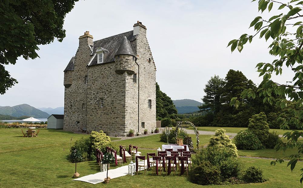 Barcaldine Castle, castle wedding venue in scotland