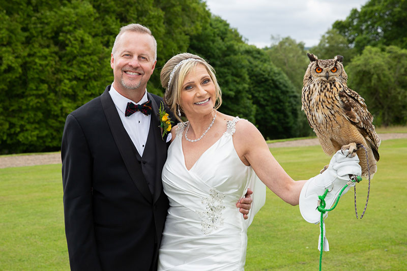 The couple with an owl