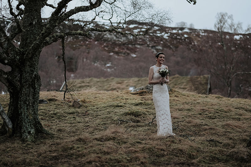 Bride on hill