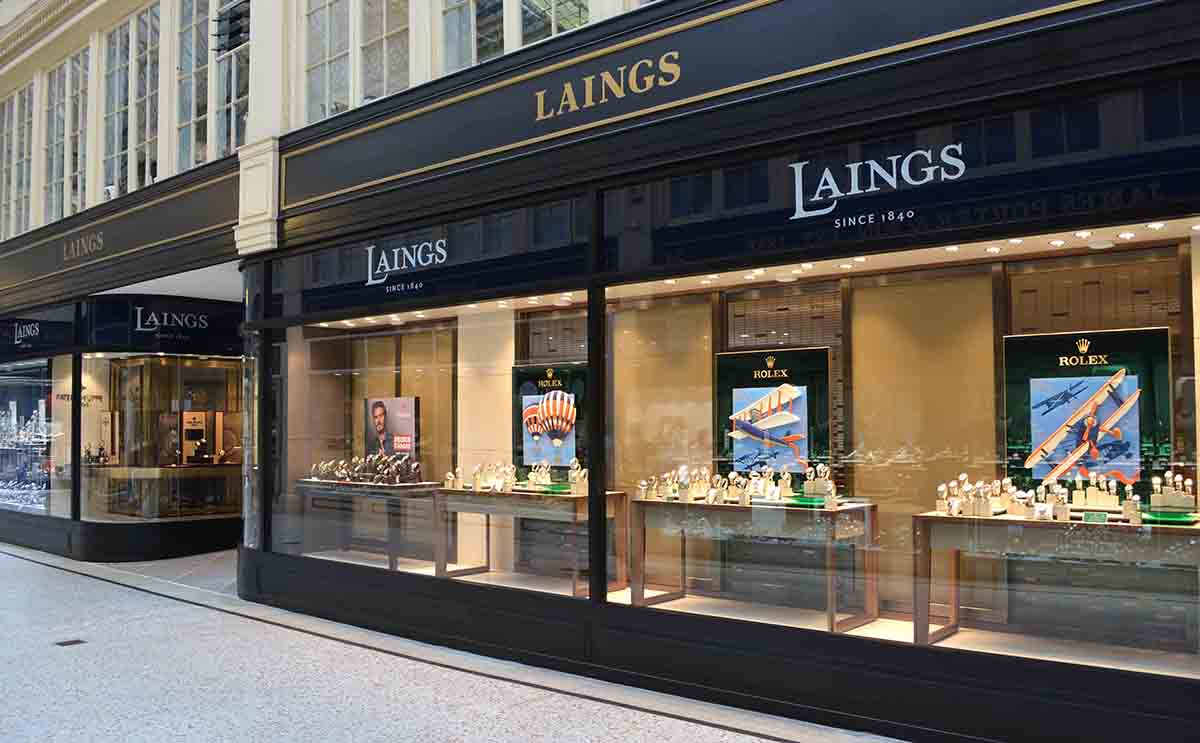 Laings Glasgow Argyll Arcade shop front