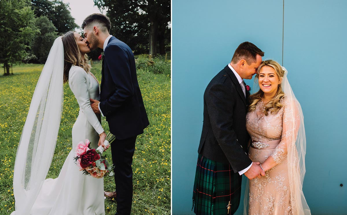 Real wedding images by Canvas and Peach Studios and Eilidh Sutherland