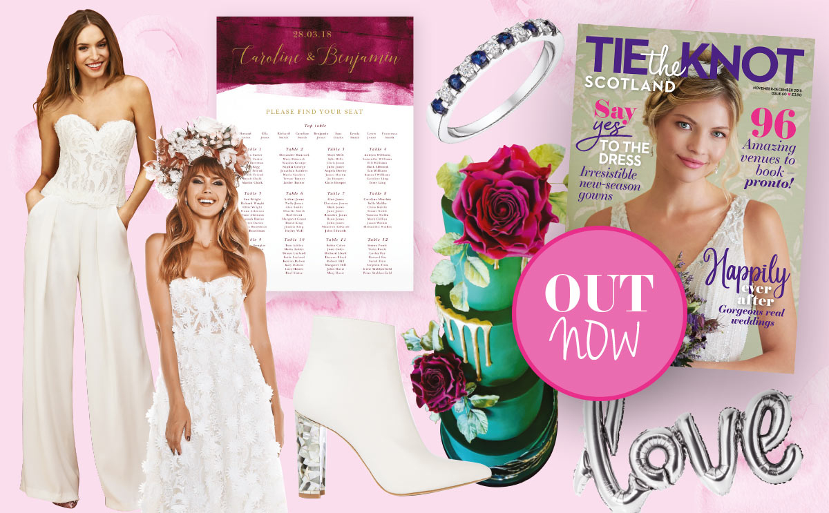 Tie the Knot Scotland issue 60 content collage