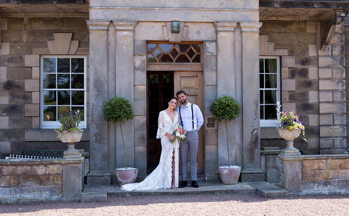 Couple outside Gilmerton House