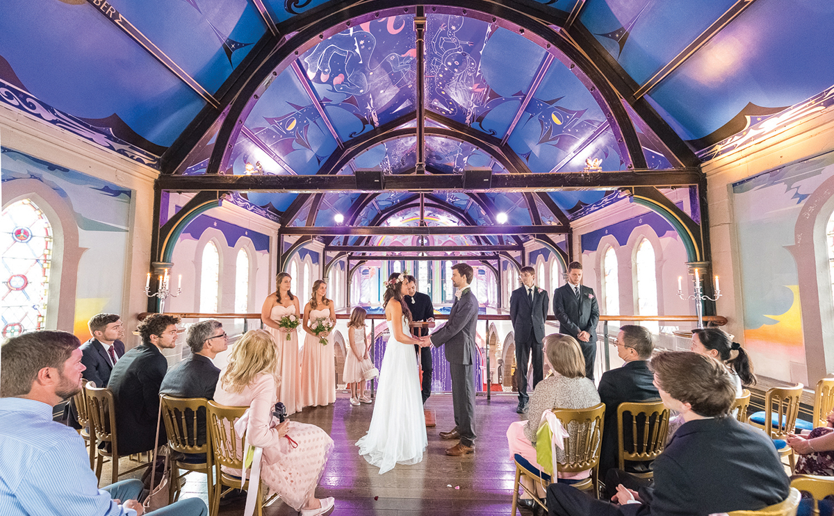 Couple marrying at Oran Mor