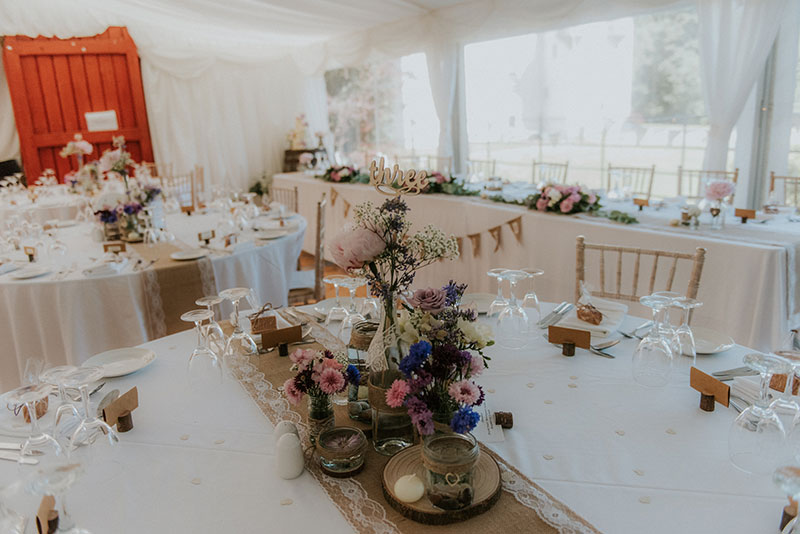 wedding marquee set