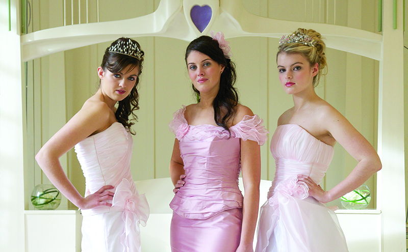 A selection of bespoke gowns, Glitterati