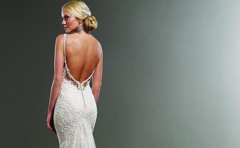 Style 744, originally £1,899, now 50% off, Martina Liana, available at Pan Pan Bridal