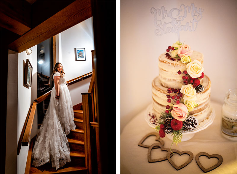 cake and bride