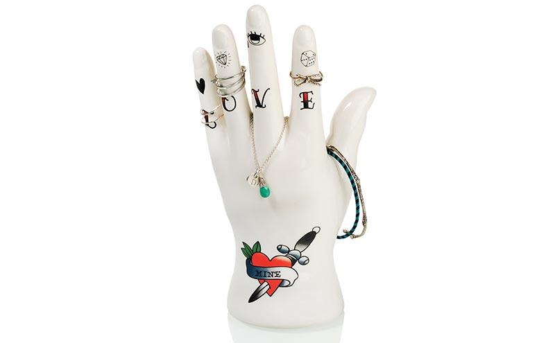 Tattoo hand jewellery holder