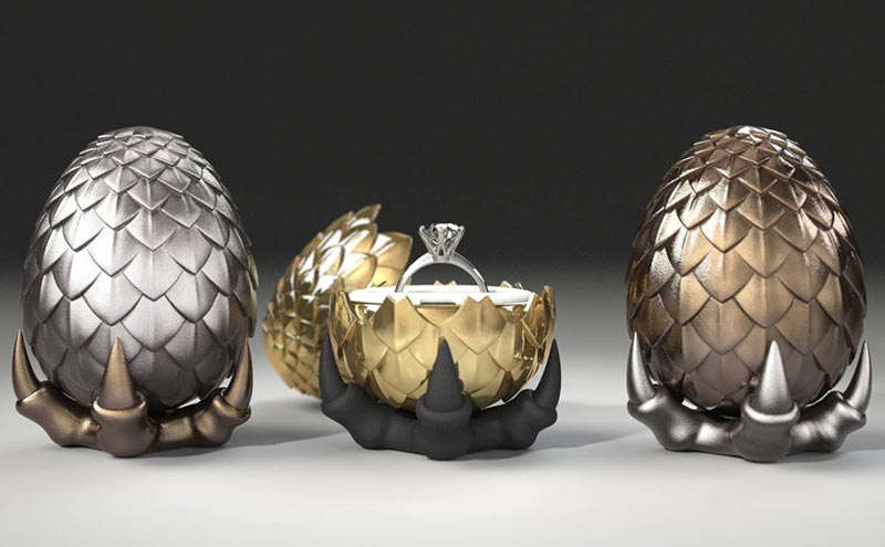 Game of Thrones Dragon Egg ring box, from £48, UrbanoRodriguez at Etsy.com