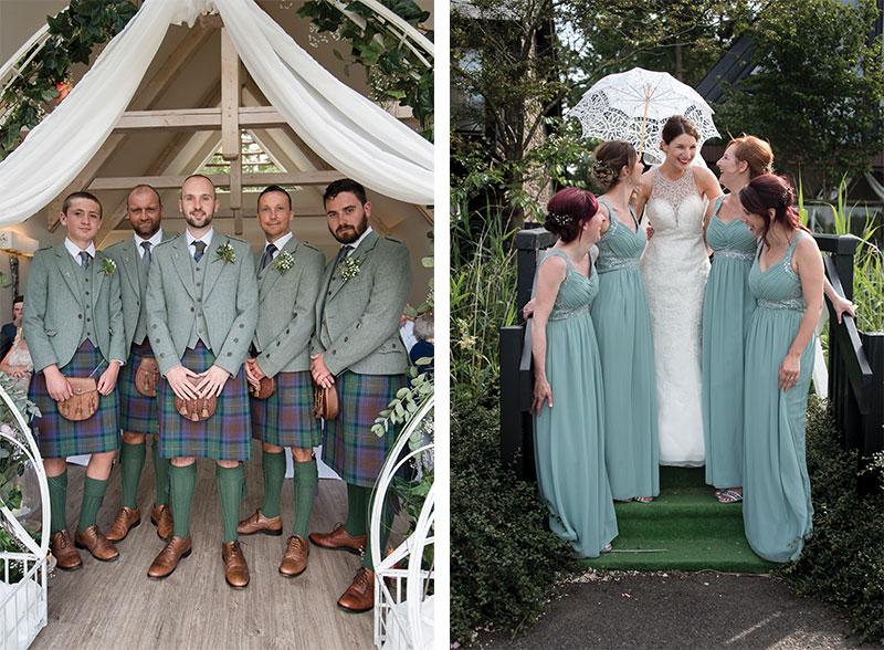 bride and groomsmen