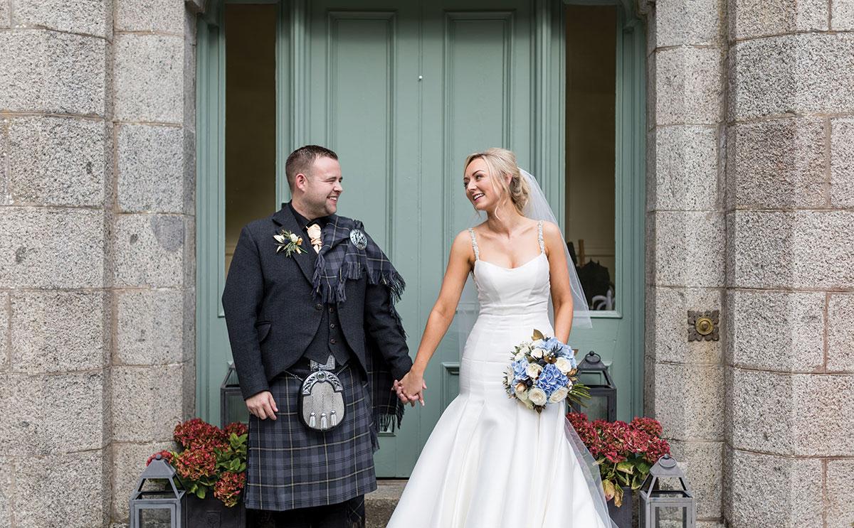 couple at door