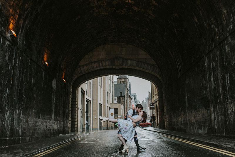 couple under bridge