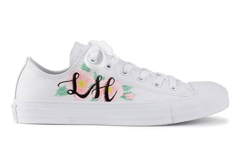 Personalised initial sneaker, £150, Charlotte Mills