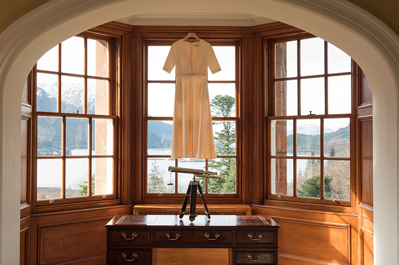 dress at window