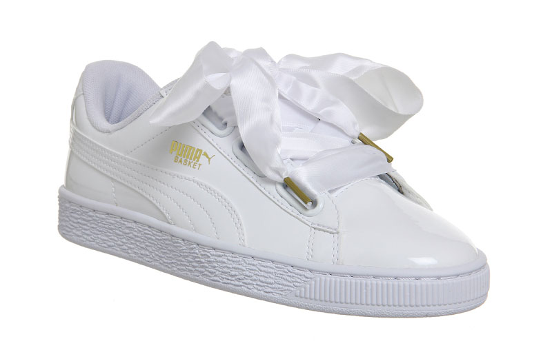 Basket Heart patent white sneakers, £43, Puma