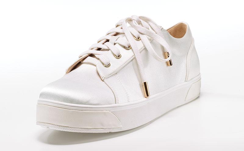 Kristen bridal sneaker, £200, Florence