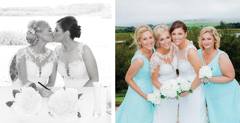 brides and bridemaids