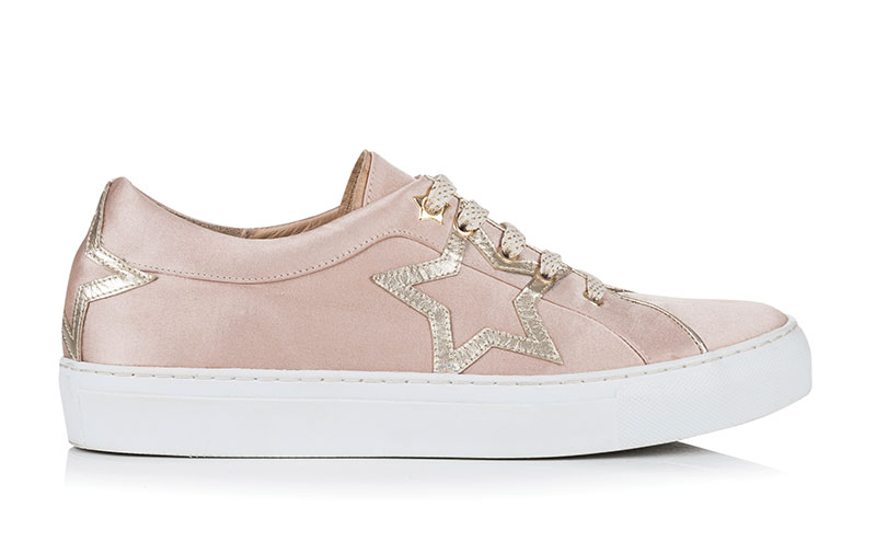 Starlight Blush satin trainer, £189, Rachel Simpson Shoes