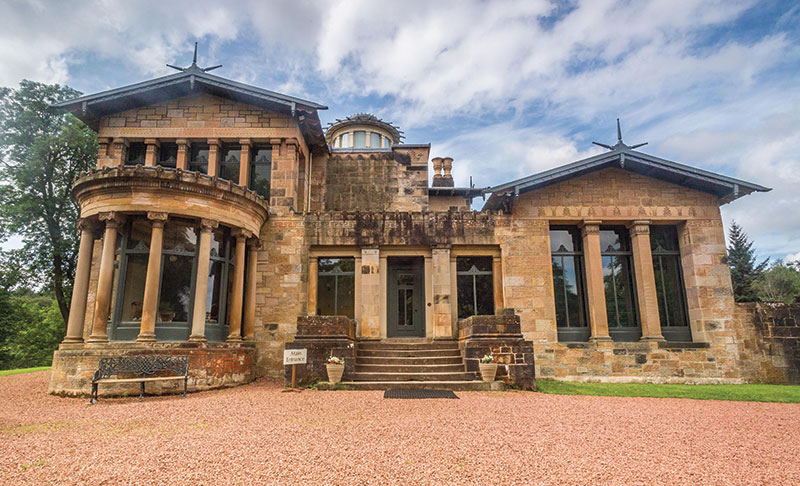 Intimate ceremonies can take place at the National Trust for Scotland's Holmwood House, a classically inspired villa near Glasgow