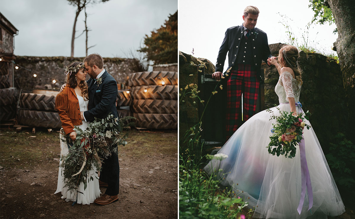 Real weddings by Colin Ross Photography and Cookie Dalloway