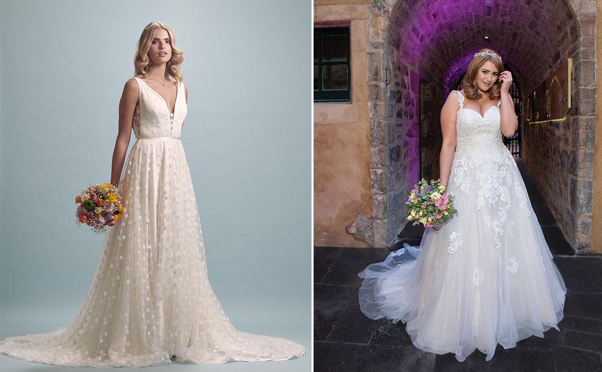 Bridal gowns from Pan Pan Bridal and Diane Honeyman