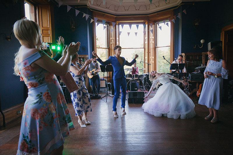 guests dancing at the ballroom at cambo estate